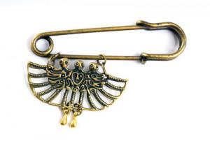 Булавка с украшением в пермском зверином стиле