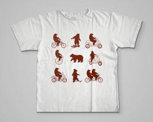 Футболка «Медведи на велосипеде»