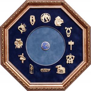 Панно со знаками северного зодиака