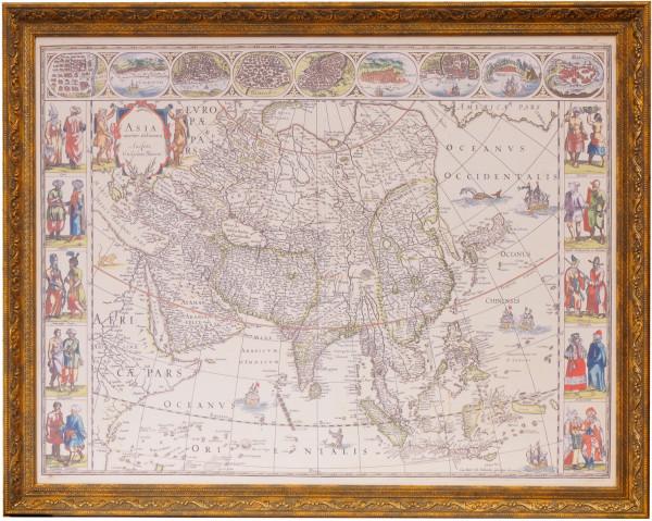 Карта Азии картографа Блау