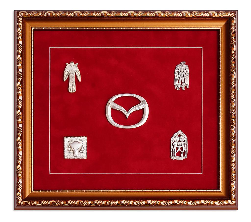 Логотип «Mazda» литье из латуни